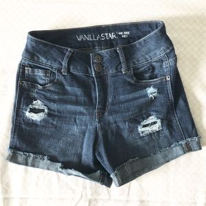 Juniors Vanilla Star Jean Shorts